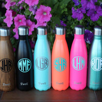 Monogrammed S'well Bottles - Sorority, Bridesmaid, Birthday, Christmas, Workout Swell Bottle