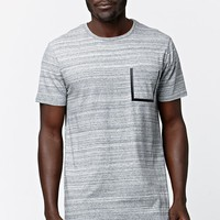 On The Byas Tahoe Heat Seal Pocket Crew T-Shirt - Mens Tee - Gray