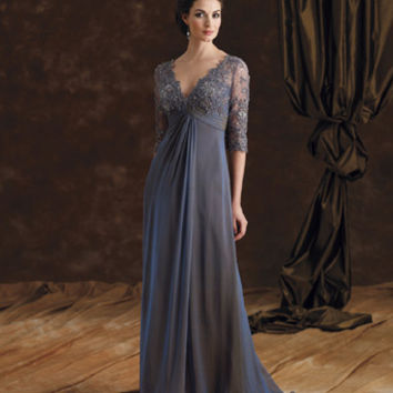 Mother of the Bride Dresses – Montage by Mon Cheri 29980 Long Sleeve Lace
