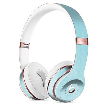 Brushed Aqua Surface Full-Body Skin Kit for the Beats by Dre Solo 3 Wireless Headphones