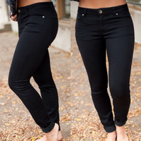 Skinny 5 Pocket Jeans Black - Piace Boutique