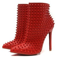 Christian Louboutin Women Fashion Casual Heels Shoes Boots-37