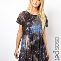 ASOS PETITE Intergalactic Smock Dress