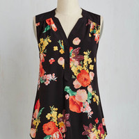 Long Sleeveless Girl About Easton Tunic in Bouquets