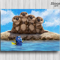 finding dory print disney poster nursery prints finding dory otters