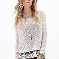 Embroidered Lace Trim Sweater | Forever 21 - 2055878532