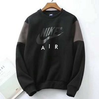 NIKE Fashion Casual Long Sleeve Splicing Pullover Sweater G-ZDL-STPFYF