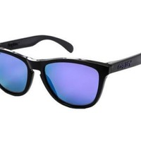 One-nice™ NEW Genuine Oakley FROGSKINS 9013 09 Black Mens Womens Sunglasses Glasses