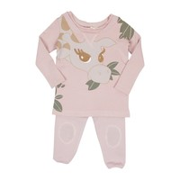 Teela Baby Girls' Mauve Giraffe Set