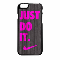 Nike Just Do It Wood Colored Darkwood Wooden Pink iPhone 6 Plus Case