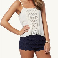 Geo Mesh Front Woven Cami | rue21