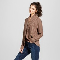 Women's Cable Knit Cocoon Cardigan - Mossimo Supply Co.™ Black L