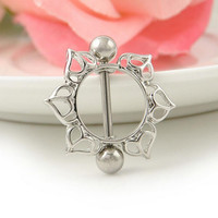 sexy stainless steel nipple rings piercing body jewelry belly chain Lady Agni breast milk buckle flame ring