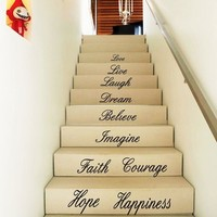 Apexshell Love Live Laugh Dream Believe Imagine Faith Courage Happiness Hope...