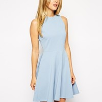 ASOS Skater Dress in Texture with High Neck