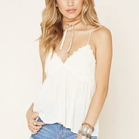 Scalloped Gauze Cami | Forever 21 - 2000203705