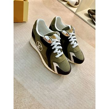 2021 LV Louis Vuitton Women Leather HIGH Top Sneakers Shoes