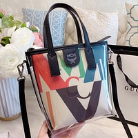 MCM Fashion New Letter Print Leather Shoulder Bag Crossbody Bag Handbag