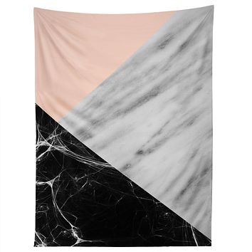 Emanuela Carratoni Marble Collage with Pink Tapestry
