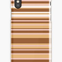 'Coffee color stripes ' iPhone Case by Manitarka