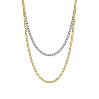 Mister Double Curb Link Chain - 2 Tone