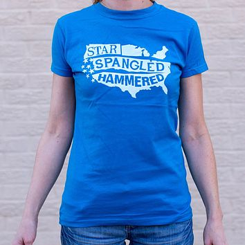 Star-Spangled Hammered T-Shirt (Ladies)