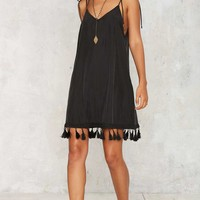 After Party Vintage Hang With Me Tassel Dress