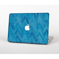 """The Woven Blue Sharp Chevron Pattern V3 Skin Set for the Apple MacBook Pro 15"""" with Retina Display"""