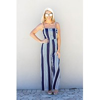 Go And Get It Navy Jumpsuit