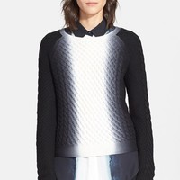 Women's Vince Vertical Dip Dye Cable Knit Sweater,