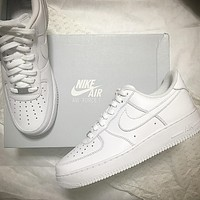 Nike Air Force 1 classic pure white low-top men's and women's sneakers