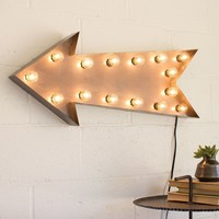 Arrow Marquee Sign with Lights