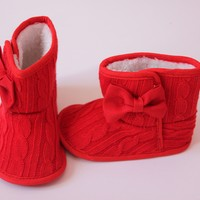 Baby Girl Winter Red Boots
