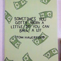 Parks and Recreation Quote Canvas, Tom Haverford Quote, Custom Canvas Painting