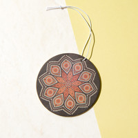 Mandala Orange Car Air Freshener