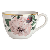 Porcelain mug - White/Flowers - Home All | H&M GB