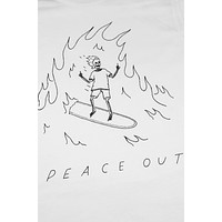 Peace Out Shirt Unisex White