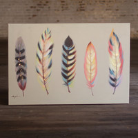 Oil Painting-5 Feathers