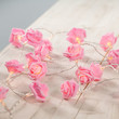 Pink Rose Battery Fairy Lights