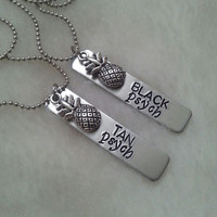 Psych Fan Black and Tan SET of Necklaces - Pineapple Charms