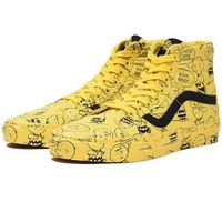 Vans x Peanuts Classic Print Pattern Old Skool Flats Sneakers Sport Shoes